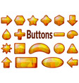 golden glass buttons set vector image vector image