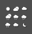 Long shadow style weather icons vector image