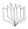 Thin book icon outline style vector image