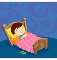 boy sleep sweet dream vector image