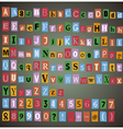 Alphabet with letters numbers vector image