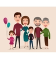 Big happy family cartoon concept vector image
