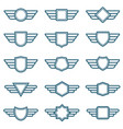 Eagle wings army badges aviation wing vector image