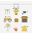 Farming and agriculture icons set vector image