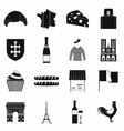France black simple icons vector image