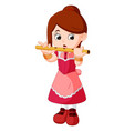 girl playing flute vector image