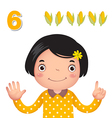 Learn number and counting number six vector image