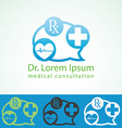 Medical pharmacy logo design template Medic cross vector image