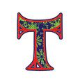 winter letter T vector image