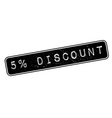 5 percent discount rubber stamp vector image