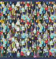 A lot of people colorful texture background from vector image