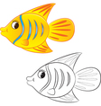 fish coloring book vector image