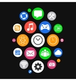 Modern Smartwatch Style Background with Icons in vector image