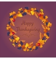 Autumn Thanksgiving Banner with Leaves and Black vector image