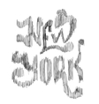 Conceptual handwritten phrase New York City on a vector image