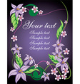 Purple Floral Background with Text Space vector image
