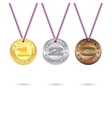 Medals set with ribbon vector image