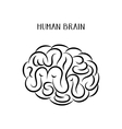 Abstract human brain icon vector image