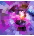 Abstract purple circle technology vector image