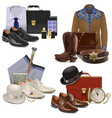 Male Fashion Accessories Set 2 vector image