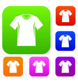 men tennis t-shirt set collection vector image