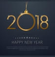 template of a square banner happy new year 2018 vector image