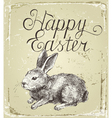 Hand drawn easter card vector image vector image