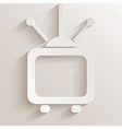 tv icon background vector image