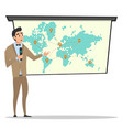 project presentation business characters vector image
