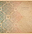 ornate background with copy space color faded out vector image