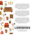 furniture shop poster design - banner with flat vector image vector image