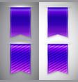 Blue ribbon bookmark for books vector image