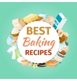 Baking background with food ingredients vector image