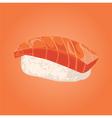 Sashimi with salmon Japanese food vector image