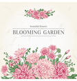 summer card with garden flowers in vintage vector image vector image