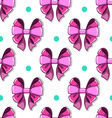 Seamless pattern cute cartoon bows vector image