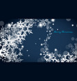 abstract background with snowflakes art vector image