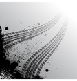 Background with tire track vector image
