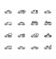 car black icon set on white background vector image