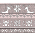 Hand drawn seamless knitted pattern vector image