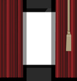 red curtains to the theatre stage vector image
