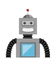 robot toy kid isolated icon vector image