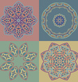 Set of circle patterns in oriental style vector image