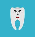 tooth angry emoji teeth grumpy emotion isolated vector image