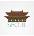 World famous Gwanghwamun Palace Greatest vector image