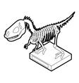 Dinosaur skeleton icon outline style vector image
