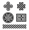 Celtic knots patterns - vector image vector image