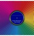 Rainbow envelope for vinyl vector image