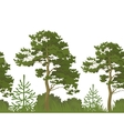Seamless background summer forest vector image vector image