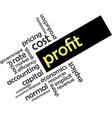 word cloud profit vector image vector image